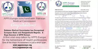 APPS Europe Joins Hand with Pakistan Medical Commission (PMC)