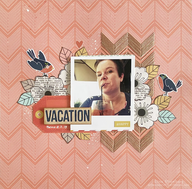 Scrapbooking layout for July 'Challenge YOUrself' challenge