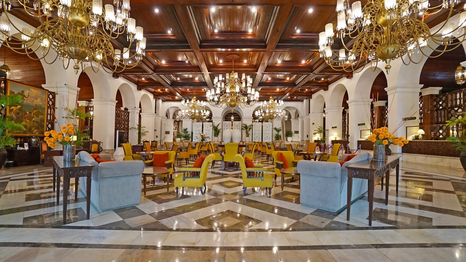 The Grand Lobby of the historic Manila Hotel