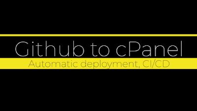 Github to webhosting, automatic deployment, ci/cd deployment