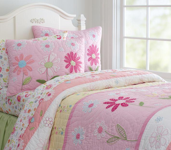 Pottery Barn Kids Pink Garden Daisy Quilt Decor Look Alikes