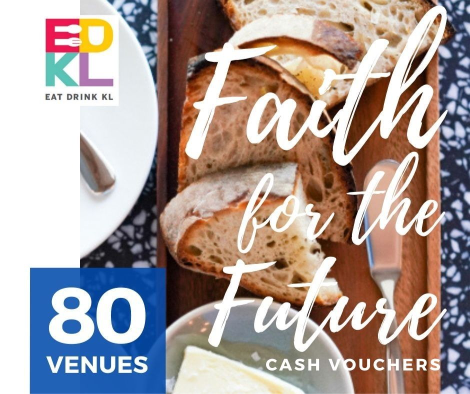 edkl faith for the future: cash vouchers at 80 restaurants & retailers