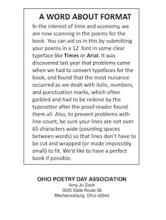 Ohio Poetry Day A Word About Format