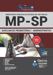 Apostila do Concurso de Auxiliar de Promotoria I - Administrativo na Banca Vanildo , Valor R$30,00