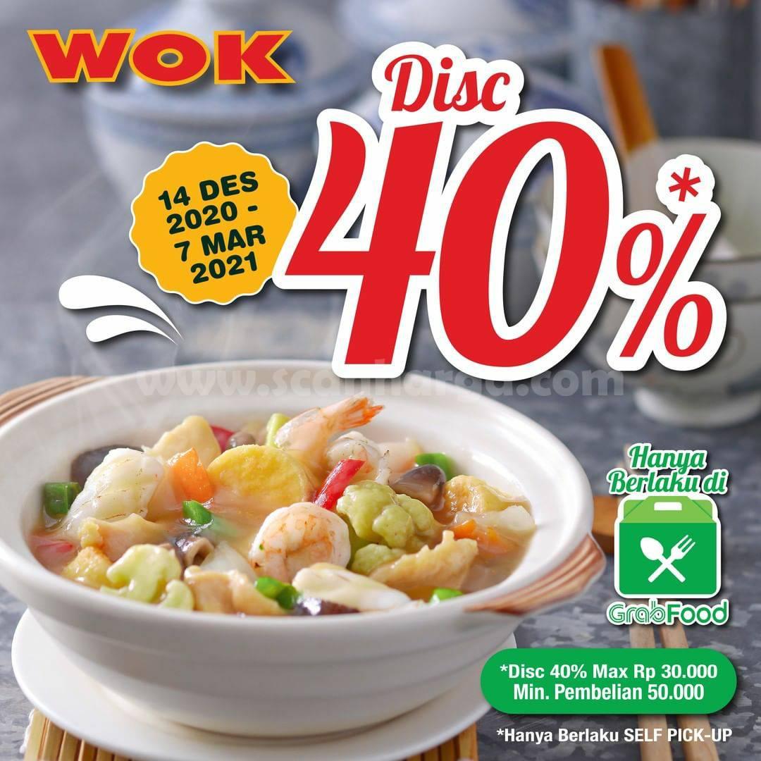 WOK Restaurant Promo Diskon 40% pesan antar via Grabfood