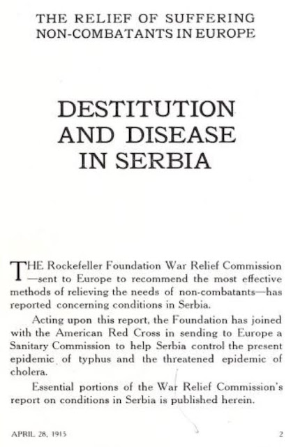 DESTITUTION AND DISEASE IN SERBIA - THE RELIEF OF SUFFERING NON-COMBATANTS IN EUROPE