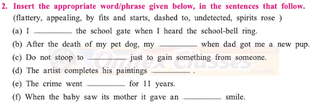Maharashtra Board Class 10 English Solutions Unit 1.2 The Thief's Story