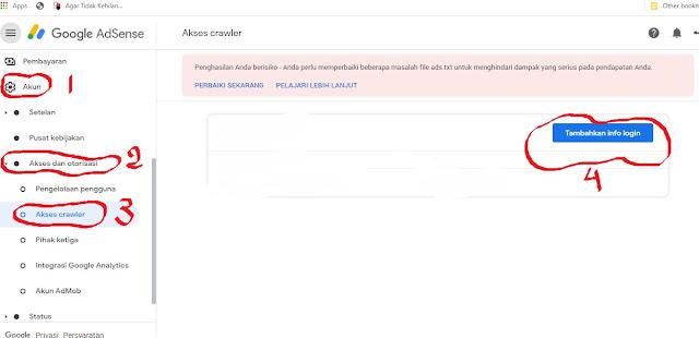 Peringatan Penghasilan Beresiko di akun Google Adsense
