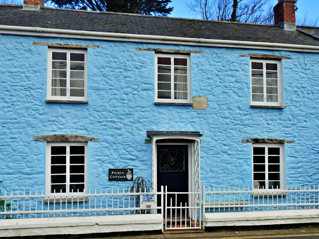 Fisherman's traditional cottage at Pentewan, Cornwall