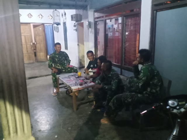 Siang Kerja , Saat Malam Satgas TMMD Reg Kodim Klaten Lakukan Anjangsana