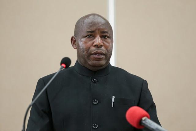 Burundi's newly-elected president Evariste Ndayishimiye photos