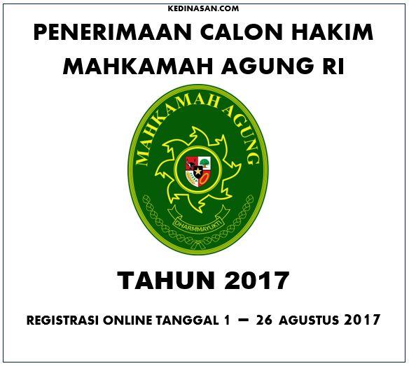 Penerimaan Calon hakim MA Tahun 2017