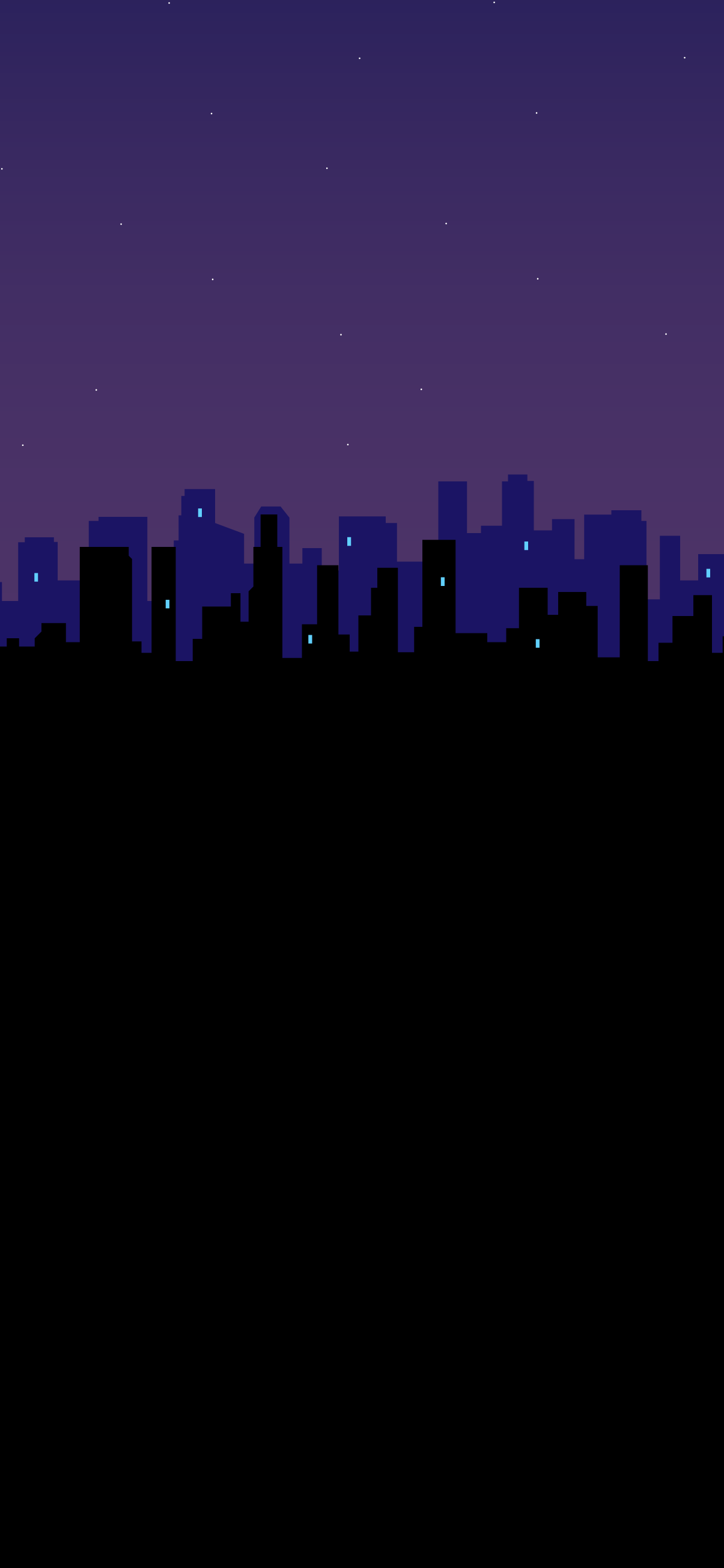 city silhouette amoled black wallpaper night