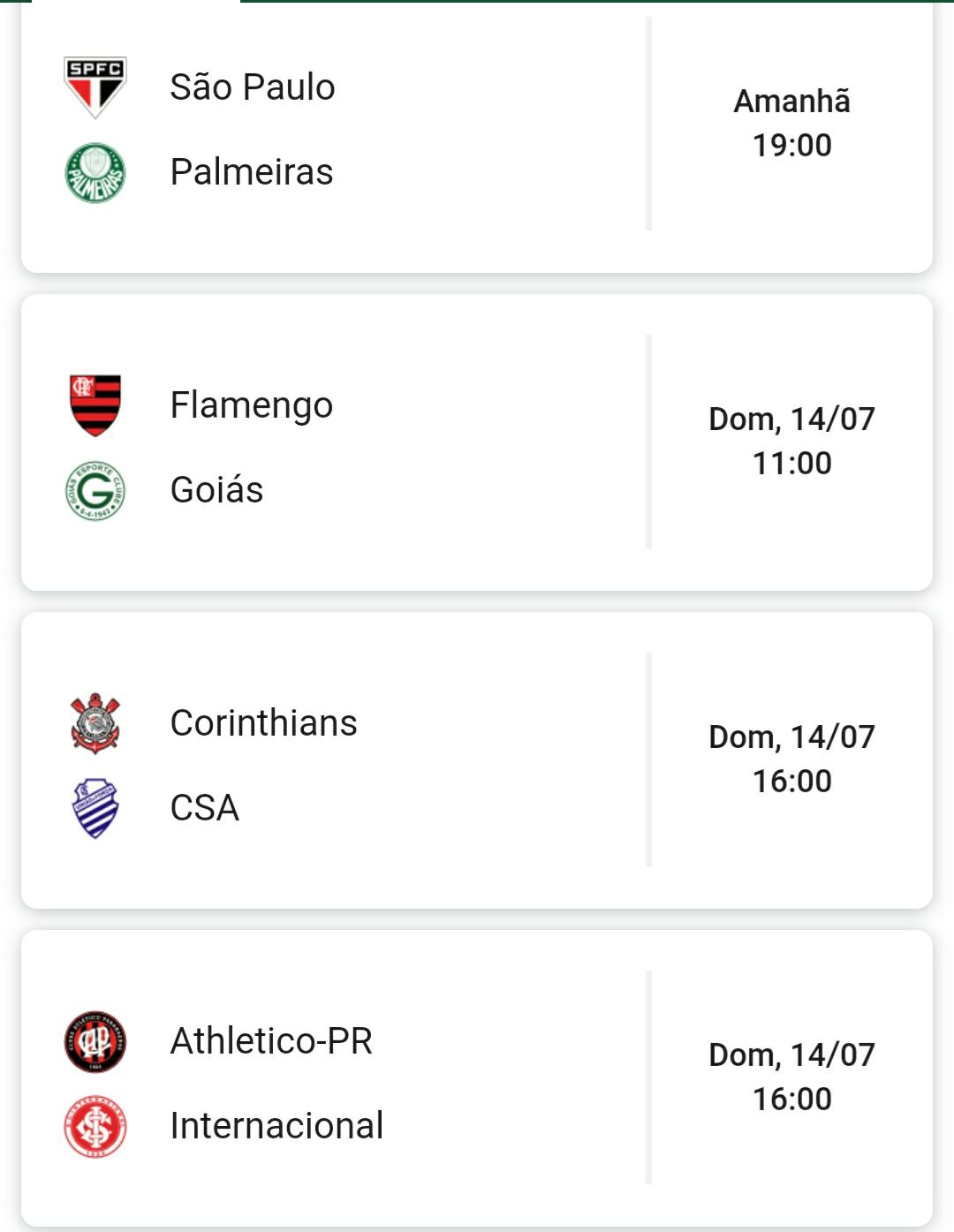 Tabela Proximos Jogos Do Brasileirao 2019 Rodada 10