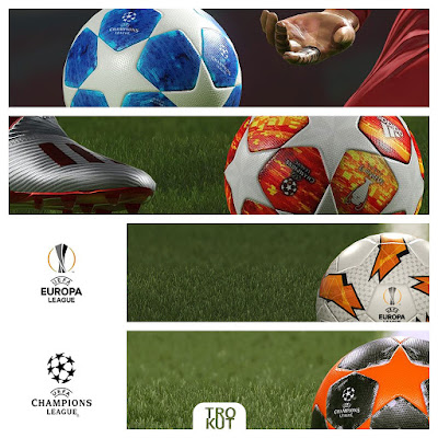 PES 2019 Ballpack UEFA Champions League & Europa League 2019