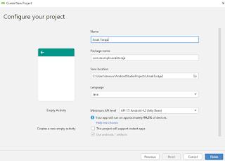 Cara Membuat New Project di Android Studio