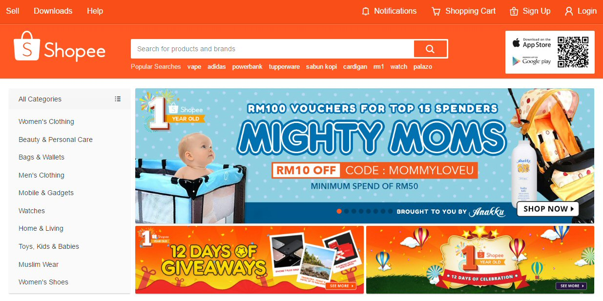 Top 10 online shopping sites in malaysia go ecommerce for Top ten online stores