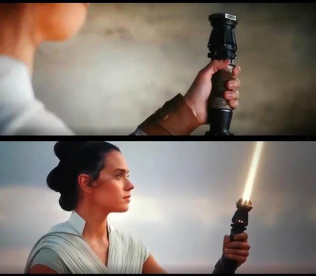 Spada laser gialla di Rey - Rey's yellow lightsaber