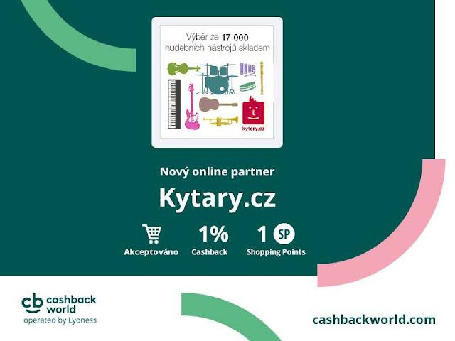 Kytary.cz CashbackWorld Lyoness výhody