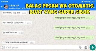 Cara Mengirim Balasan Chat Whatsapp Secara Otomatis Terbaru
