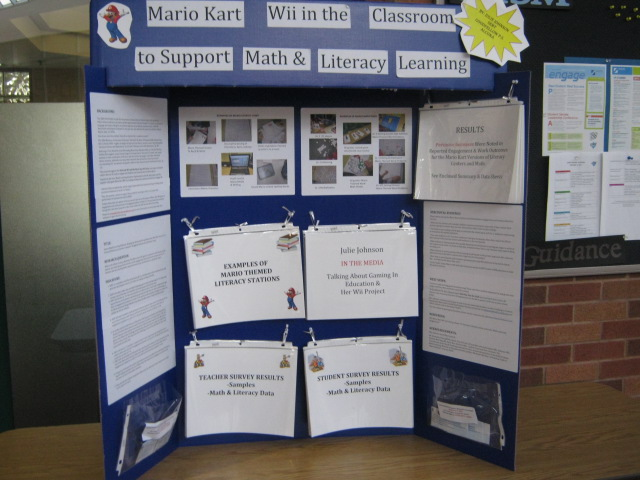 Games Based Learning Blog MARIO KART WII LITERACY  MATH RESEARCH - project poster board