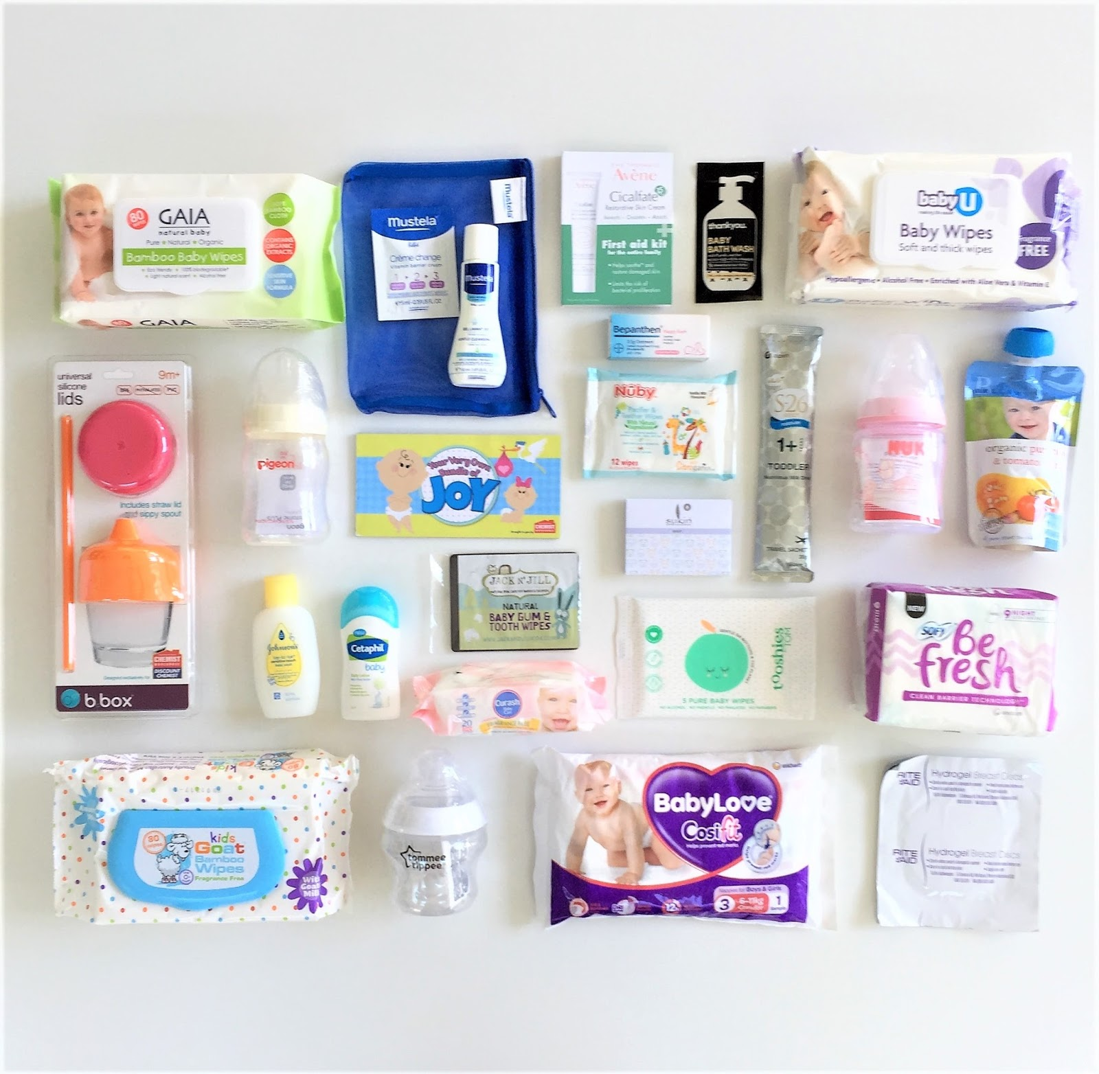 WOTNOT 4x Baby Wipes Travel Packs Biodegradable