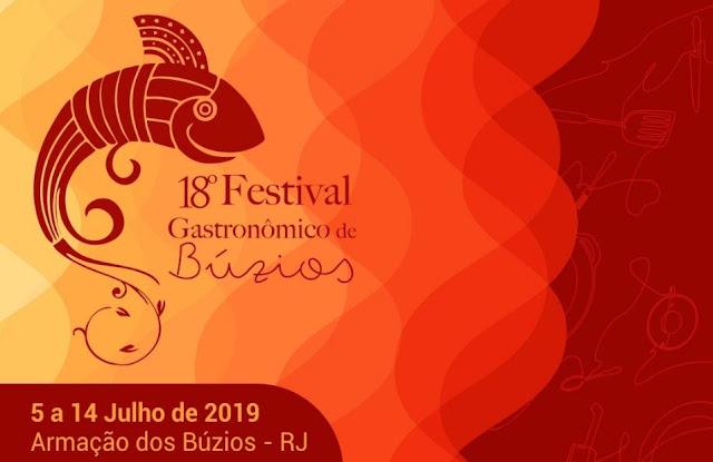 Festival Gastronômico de Búzios completa 18 anos em 2019