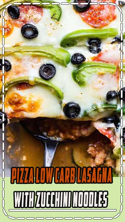 Low Carb Zucchini Pizza Lasagna - This zucchini lasagna combines 2 classic comfort foods into one healthy and kid friendly dinner! Gluten free, under 300 calories and packed with protein too! | #Foodfaithfitness.com | #Glutenfree #Lowcarb #Healthy #KidFriendly #Lasagna