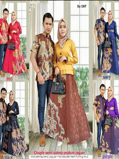 model baju batik pesta couple