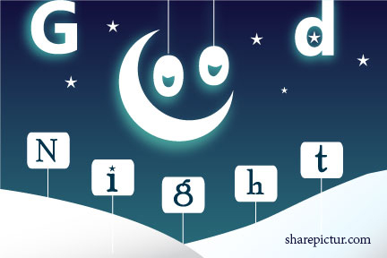 A sweet good night greeting