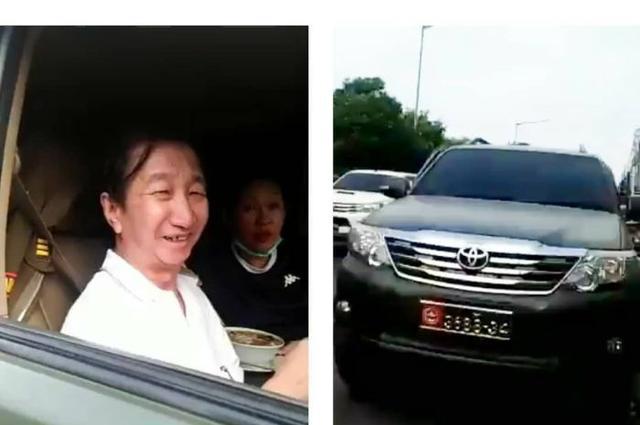 Bikin Geram! Sambil Tertawa Terkekeh-kekeh, Orang Ini Mengaku Anggota TNI, Plat Mobil Juga Dirubah Seperti Ini