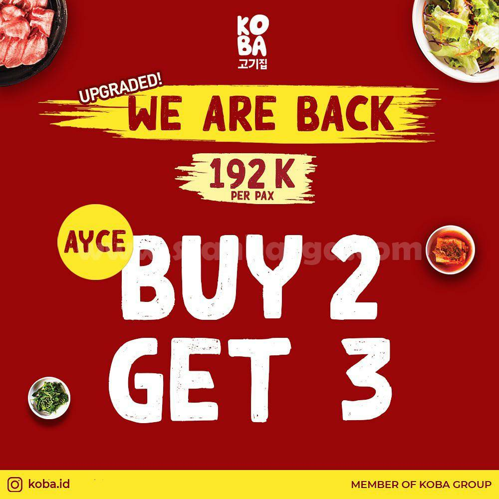 Promo KOBA BUY 2 GET 3 ALL YOU CAN EAT!