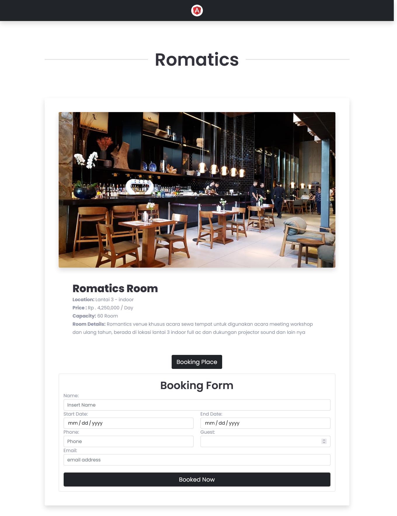 website resto cafe terbaru