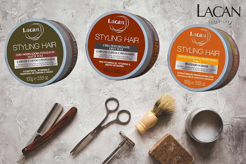Lançamento: Ceras e pomadas para o cabelo Lacan