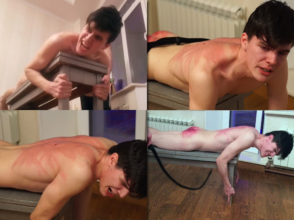 #RusStraightGuys - Body Rent – Back Whipping for Tim 19 y.o.