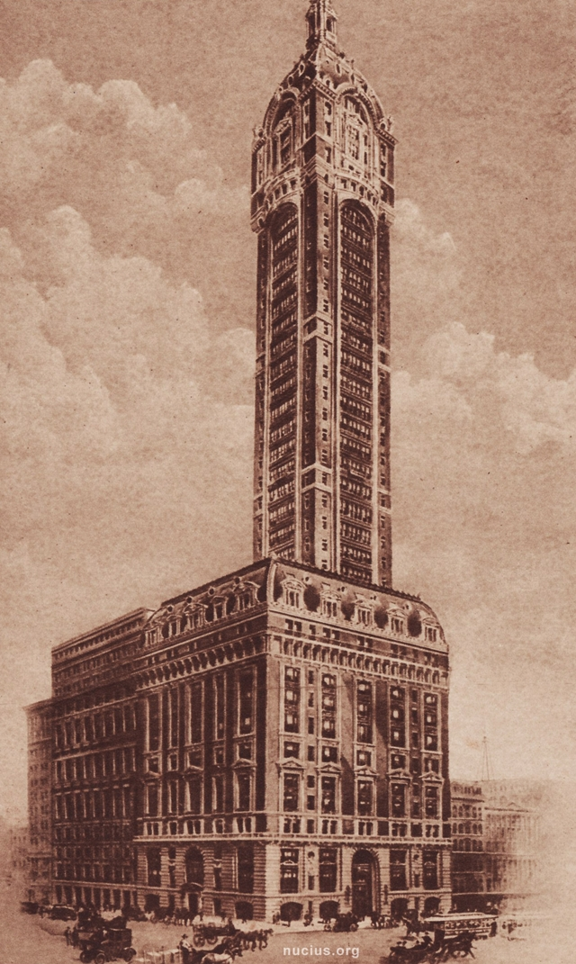 Old picture of the Singer Building, New York City