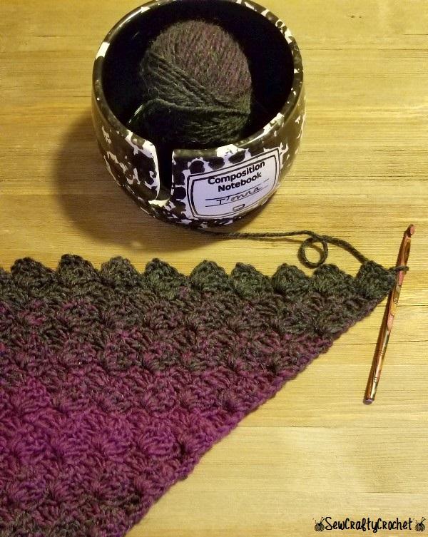 C2C Scarf with Pockets - Sew Crafty Crochet