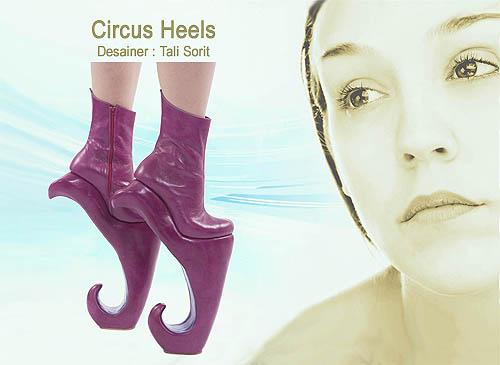 Desain untuk model sepatu wanita yang cantik dan unik