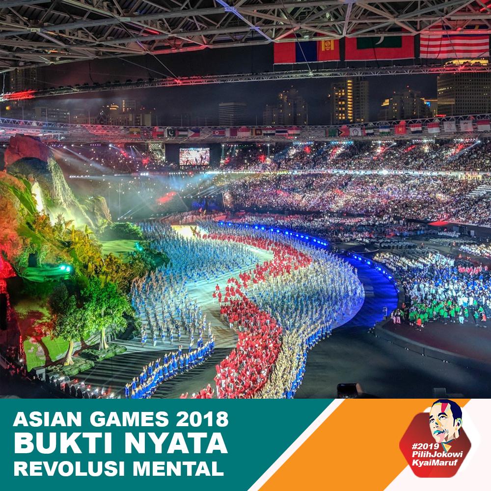 Asian Games 2018 Bukti Nyata Revolusi Mental