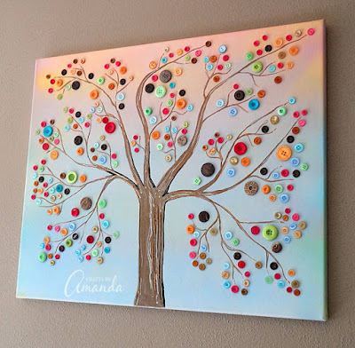 http://craftsbyamanda.com/vibrant-button-tree-on-canvas-a-giveaway/
