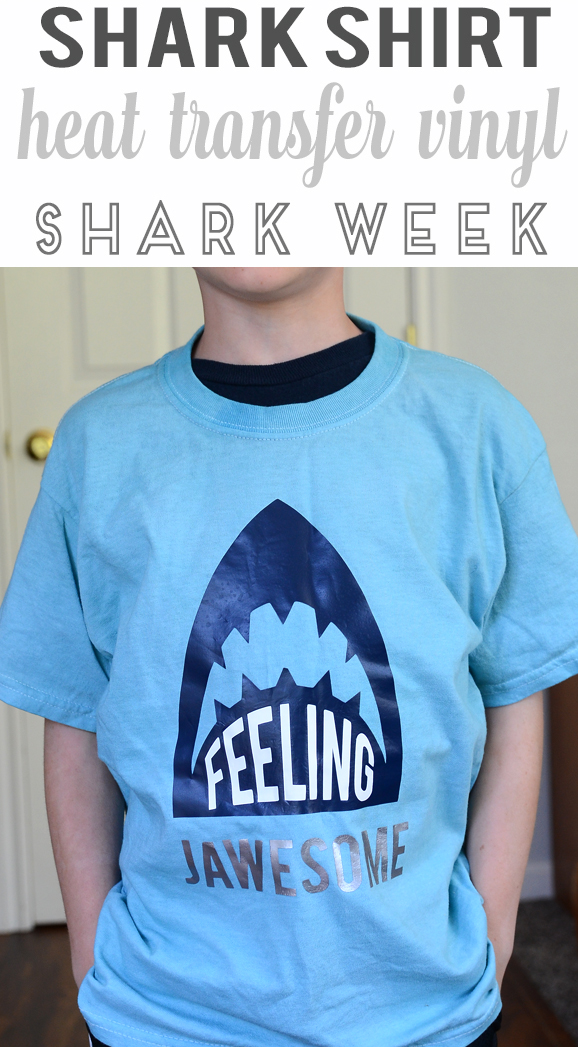 shark shirt shark week using heat transfer vinyl