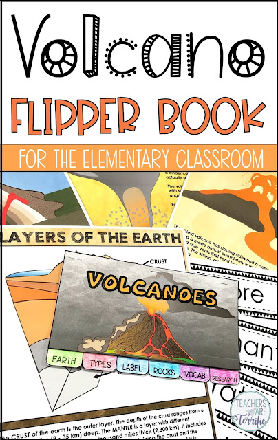 This Little Flipper booklet works perfectly to get students involved in writing, labeling, sketching, and research. This one is about volcanoes!