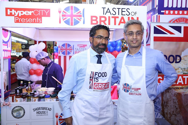 Mr. Kumar Iyer and Mr. Ramesh Menon at HyperCITY Malad store for the unveiling of Tastes of Britain