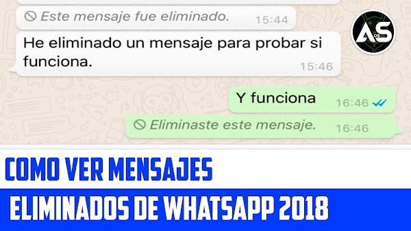 Ver Mensajes Eliminados de Whatsapp 2018