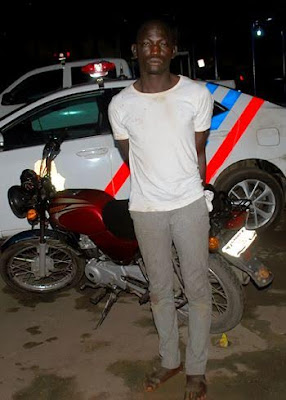 RRS nabs inter-state okada thief in Lagos (Photo)