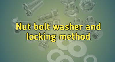 Nut bolt washer and locking method