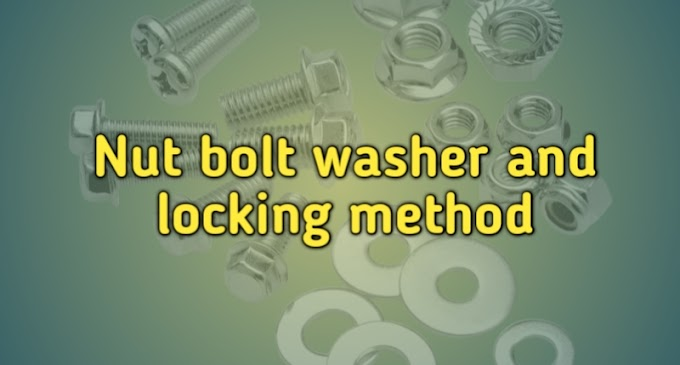 Nut Bolt Washer and Locking Method in Hindi for Diesel Mechanic Course