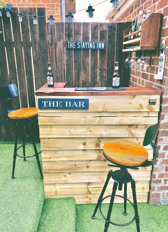 DIY Home bar garden man cave wooden pallets easy