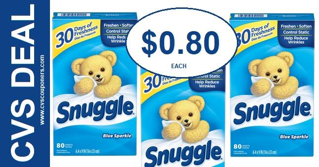 Snuggle Dryer Sheets CVS deal 1110-1116