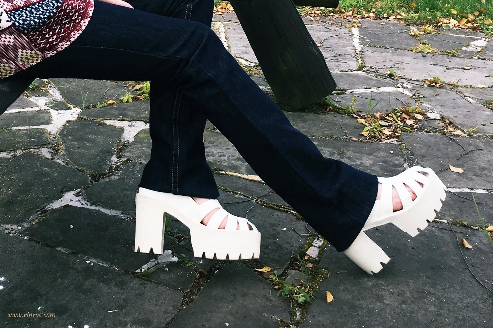 Szerokie nogawki dzwony boho style